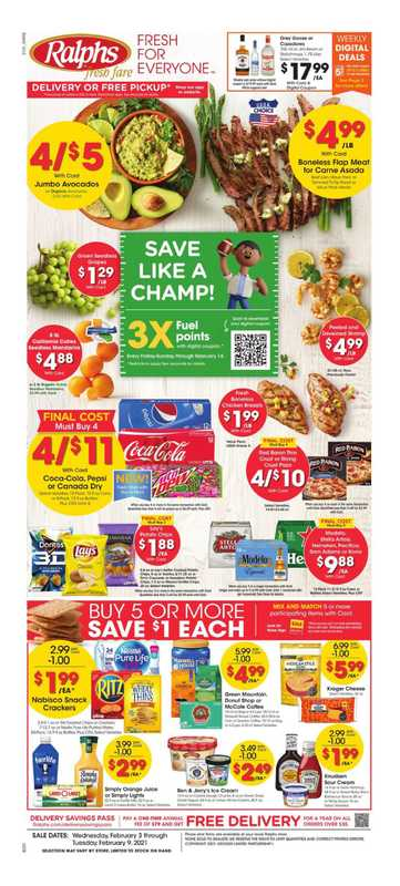 Ralphs - deals are valid from 02/03/21 to 02/09/21 - page 1.