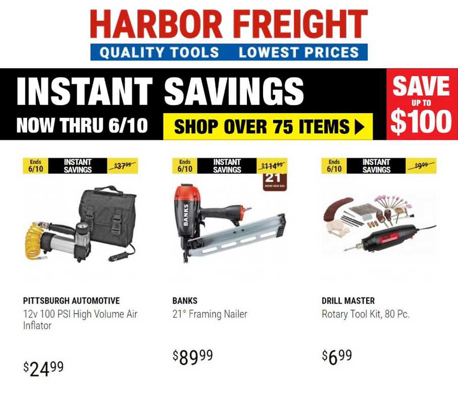 Harbor Freight Tools - deals are valid from 06/01/21 to 06/10/21 - page 1.