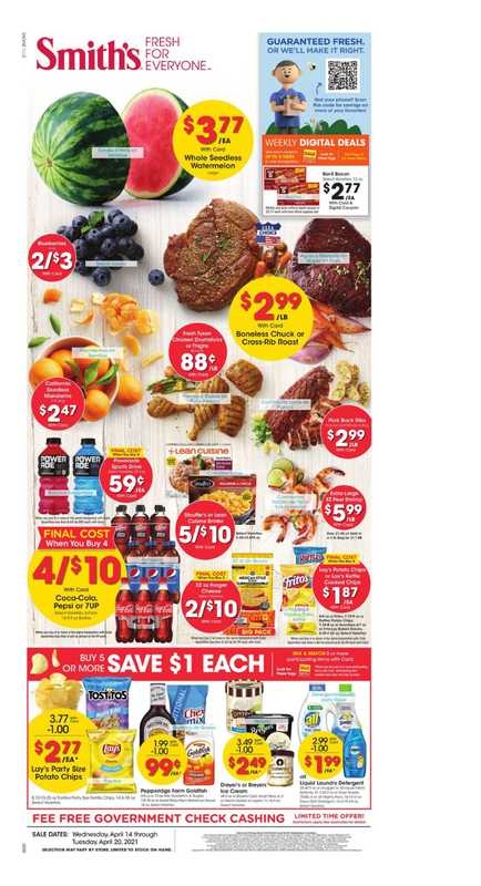 Smith's - deals are valid from 04/14/21 to 04/20/21 - page 1.