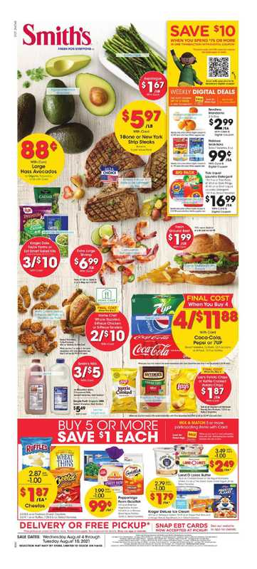 Smith's - deals are valid from 08/04/21 to 08/10/21 - page 1.
