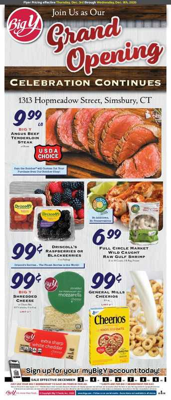 Big Y - deals are valid from 12/03/20 to 12/09/20 - page 1.