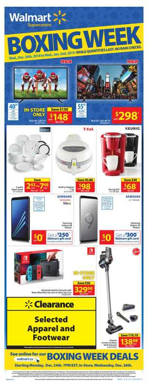 Walmart - deals are valid from 12/26/18 to 01/02/19 - page 1.