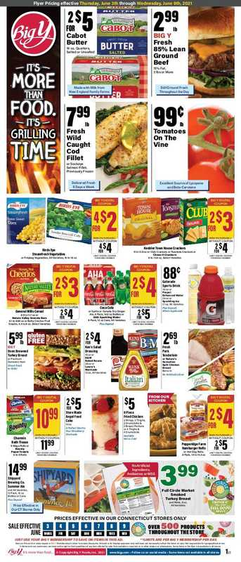 Big Y - deals are valid from 06/03/21 to 06/09/21 - page 1.