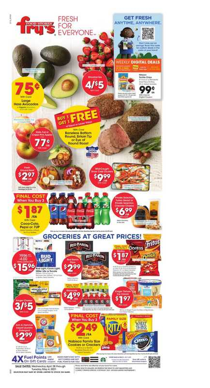 Fry's Food - deals are valid from 04/28/21 to 05/04/21 - page 1.