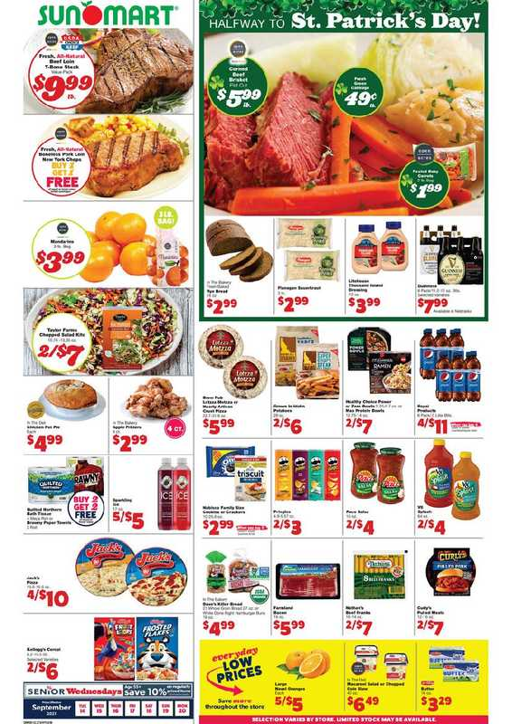 Sun Mart Foods - deals are valid from 09/14/21 to 09/20/21 - page 1.