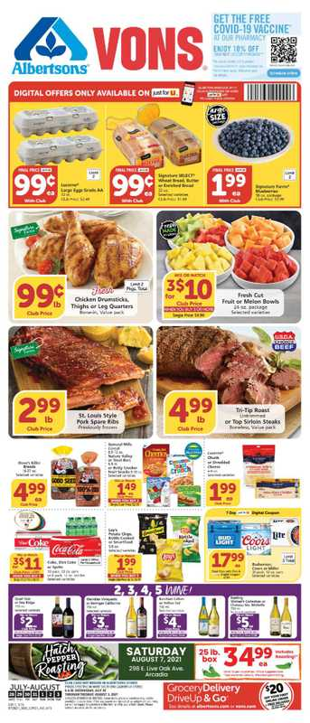 Vons - deals are valid from 07/28/21 to 08/03/21 - page 1.