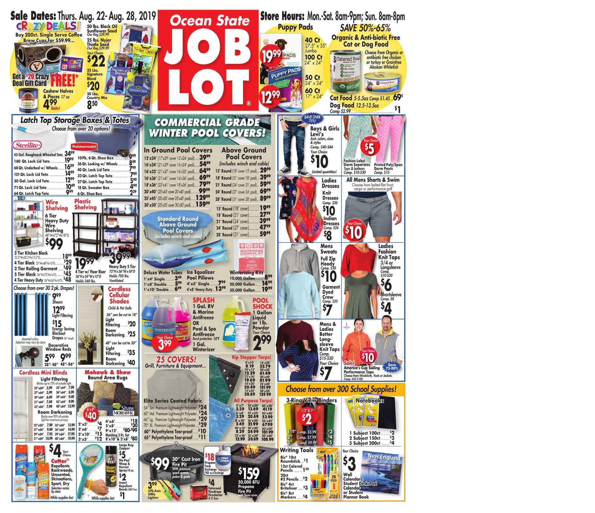 Ocean State Job Lot - promo starting from 22.08.2019 - page 1