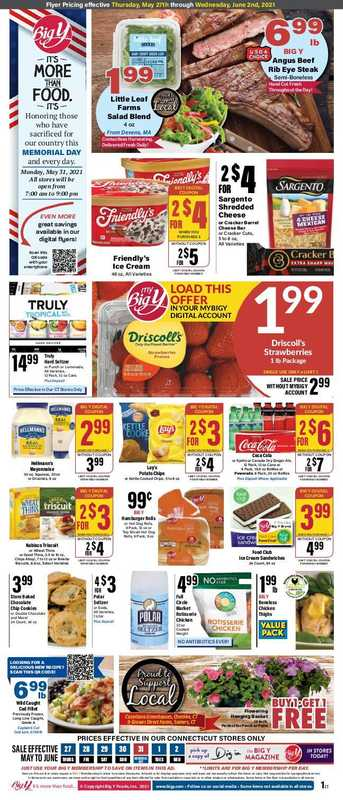 Big Y - deals are valid from 05/27/21 to 06/02/21 - page 1.