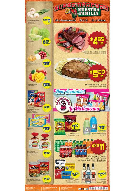 Supermercado Nuestra Familia - deals are valid from 05/19/21 to 05/25/21 - page 1.