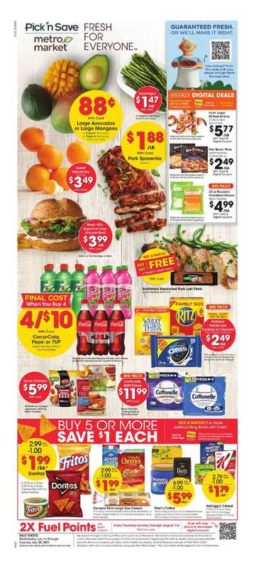 Metro Market - deals are valid from 07/14/21 to 07/21/21 - page 1.