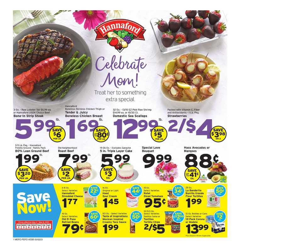 Hannaford - deals are valid from 05/02/21 to 05/08/21 - page 1.