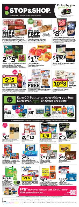 Stop & Shop - deals are valid from 07/23/21 to 07/29/21 - page 1.