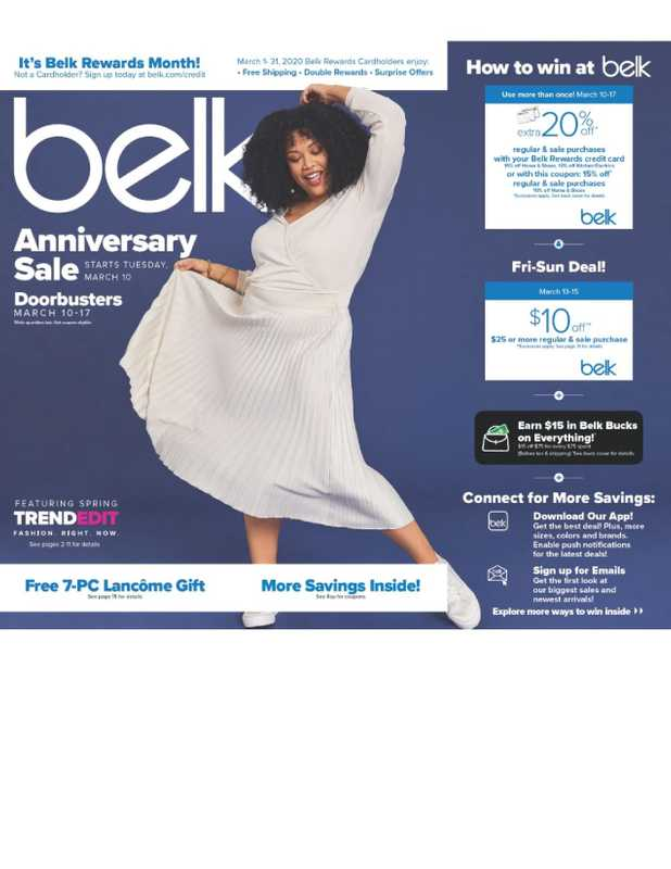 Belk - deals are valid from 03/10/20 to 03/17/20 - page 1.