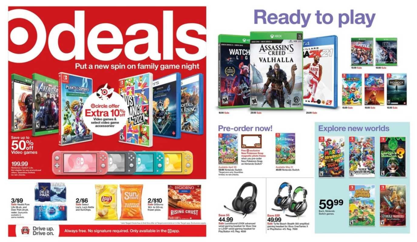 Target - deals are valid from 04/11/21 to 04/17/21 - page 1.