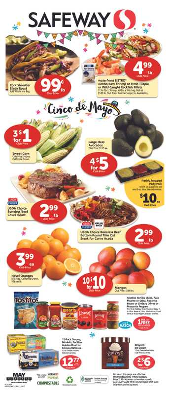 Safeway - deals are valid from 05/01/19 to 05/07/19 - page 1.