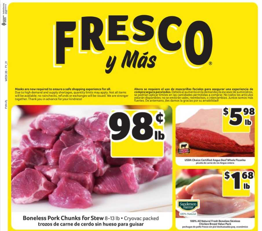 Fresco y Más - deals are valid from 05/12/21 to 05/18/21 - page 1.