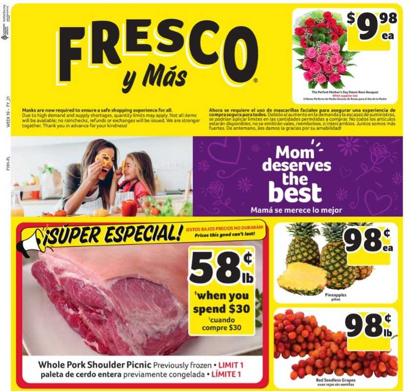 Fresco y Más - deals are valid from 05/05/21 to 05/11/21 - page 1.