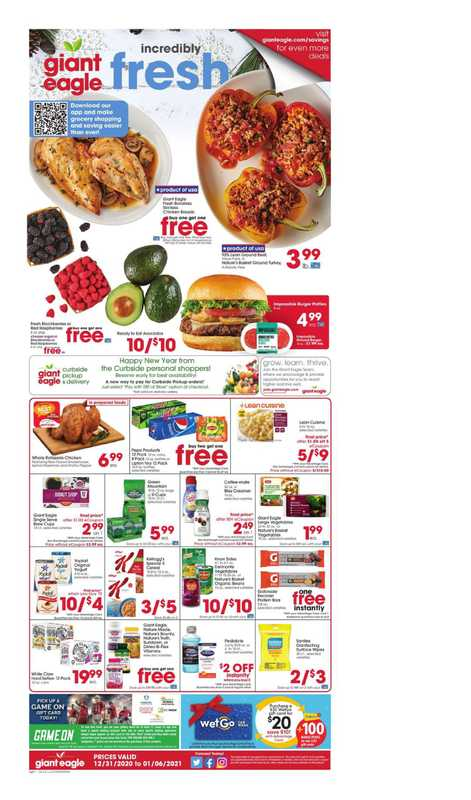 Market District - deals are valid from 12/31/20 to 01/06/21 - page 1.