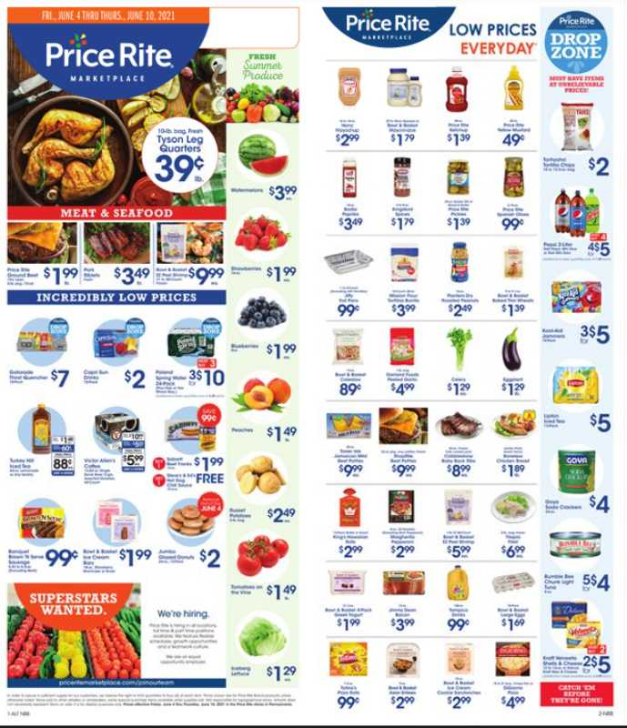 Price Rite Marketplace - deals are valid from 06/04/21 to 06/10/21 - page 1.
