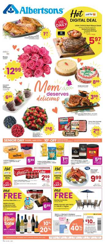 Albertsons - deals are valid from 05/05/21 to 05/11/21 - page 1.