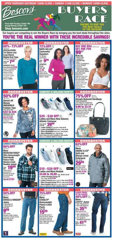 Boscov's - deals are valid from 10/10/19 to 10/14/19 - page 1.