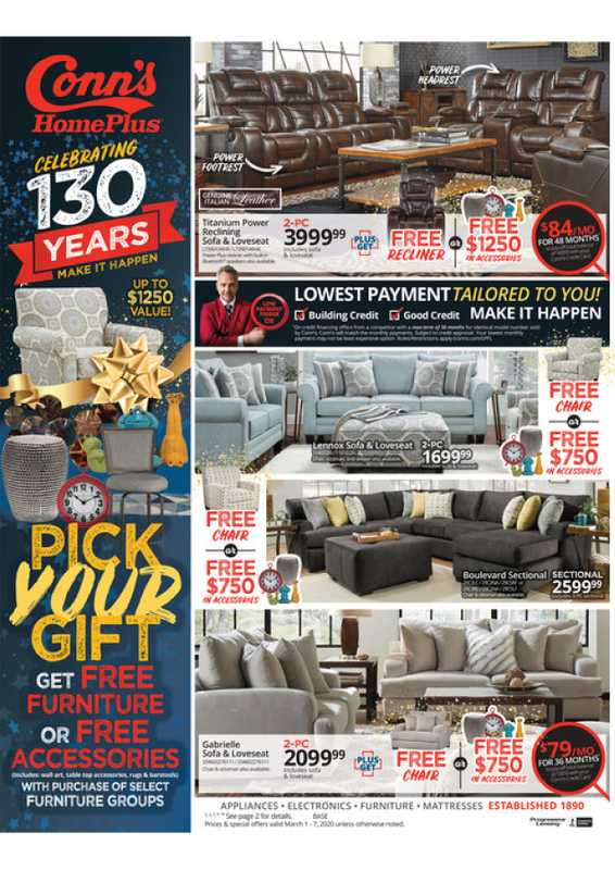 Conn's HomePlus - deals are valid from 03/01/20 to 03/04/20 - page 1.