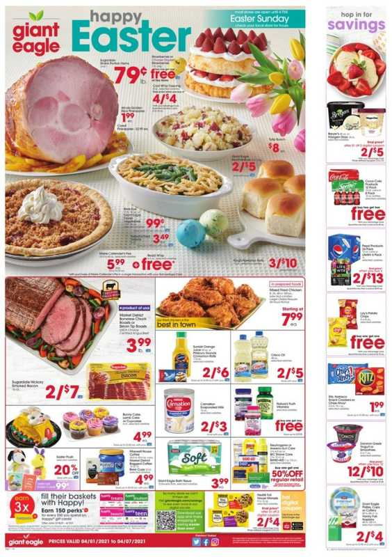Giant Eagle - deals are valid from 04/01/21 to 04/07/21 - page 1.