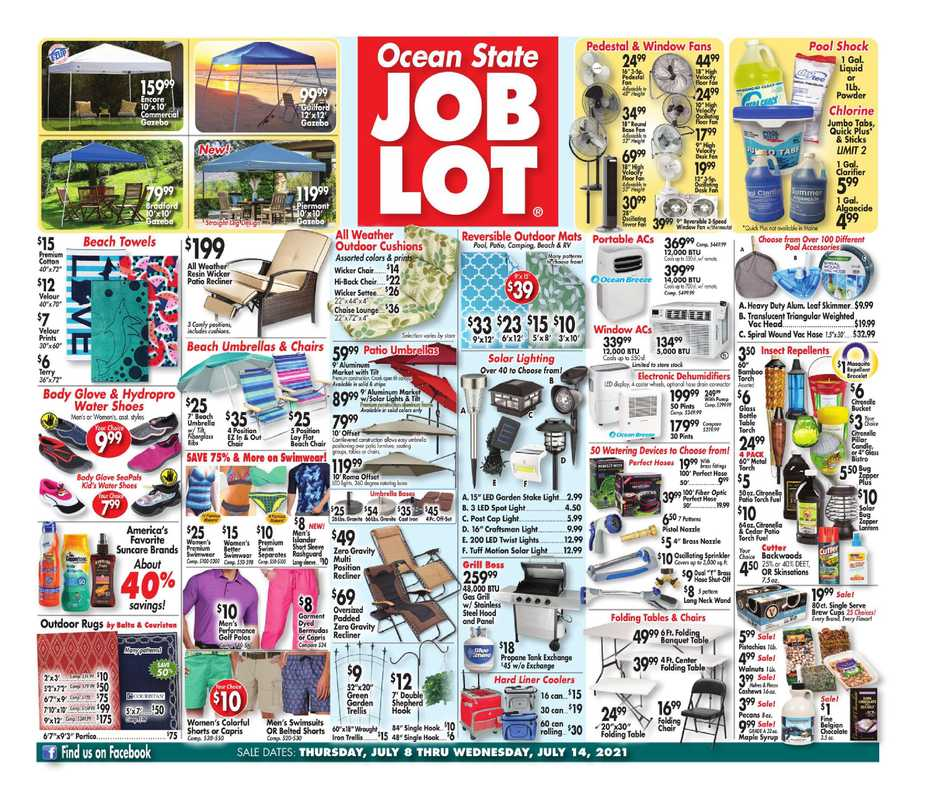 Ocean State Job Lot - deals are valid from 07/08/21 to 07/14/21 - page 1.