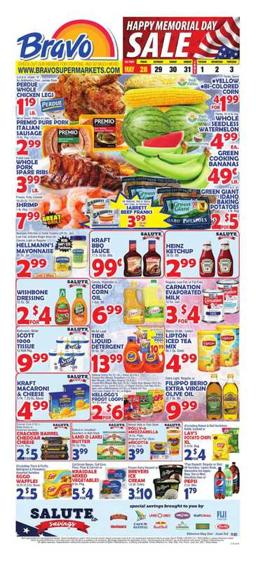Bravo - deals are valid from 05/28/21 to 06/03/21 - page 1.