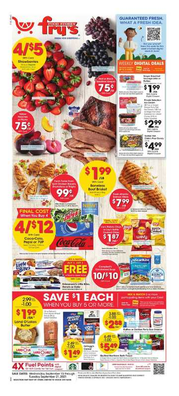 Fry's Food - deals are valid from 09/15/21 to 09/21/21 - page 1.