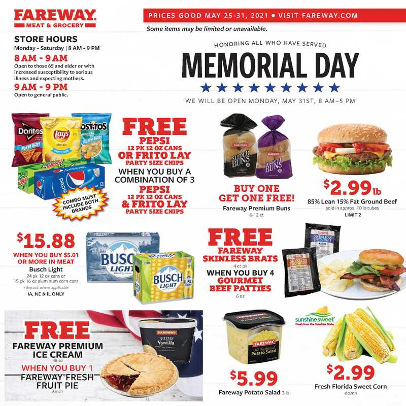 Fareway - deals are valid from 05/25/21 to 05/31/21 - page 1.