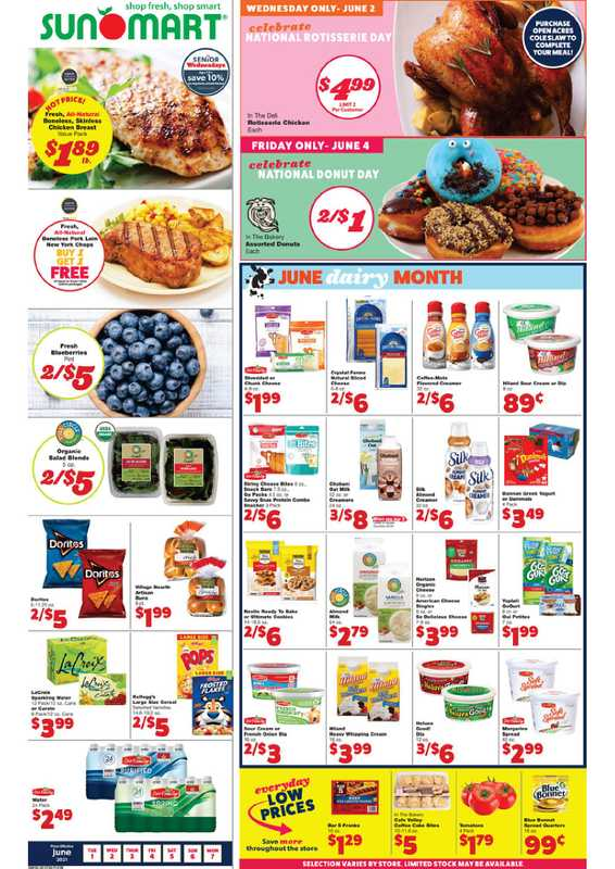 Sun Mart Foods - deals are valid from 06/01/21 to 06/06/21 - page 1.