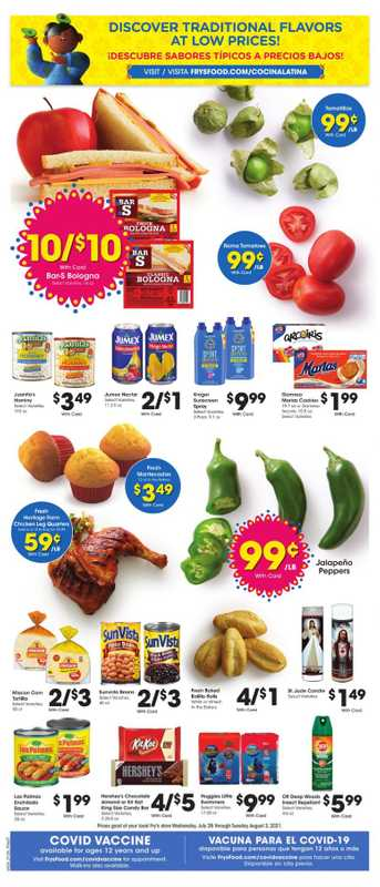 Fry's Food - deals are valid from 07/27/21 to 08/03/21 - page 1.