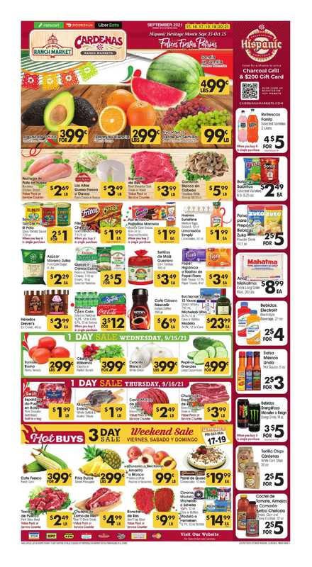 Los Altos Ranch Market - deals are valid from 09/15/21 to 09/21/21 - page 1.