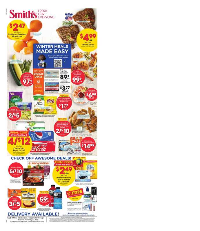 Smith's - deals are valid from 02/17/21 to 02/23/21 - page 1.
