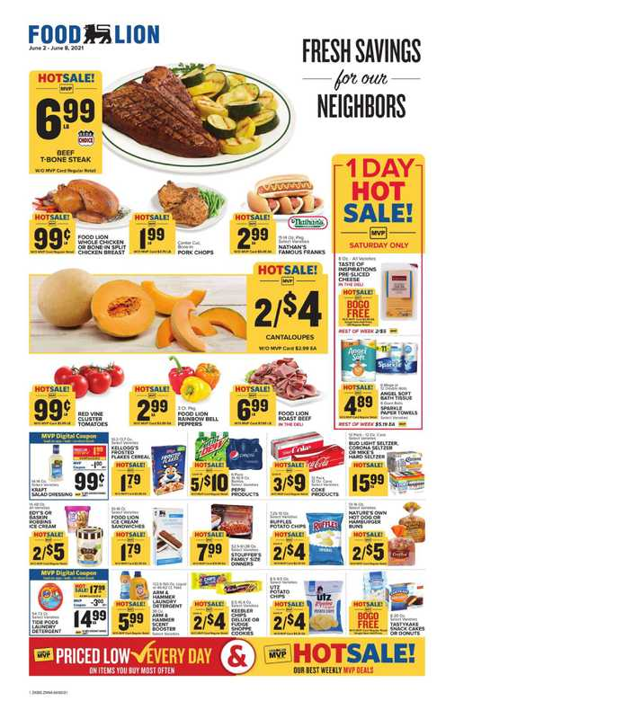 Food Lion - deals are valid from 06/02/21 to 06/08/21 - page 1.
