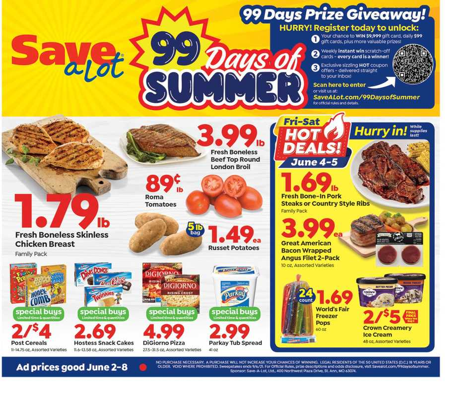 Save-A-Lot - deals are valid from 06/02/21 to 06/08/21 - page 1.