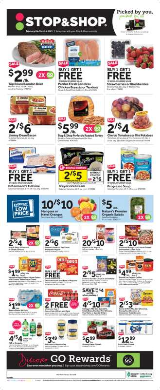 Stop & Shop - deals are valid from 02/26/21 to 03/04/21 - page 1.