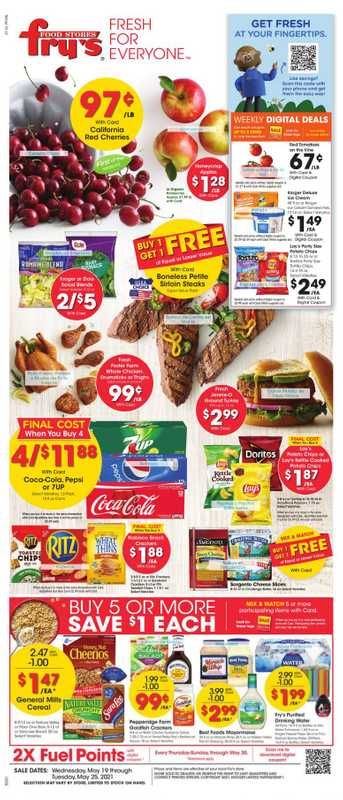 Fry's Food - deals are valid from 05/19/21 to 05/25/21 - page 1.