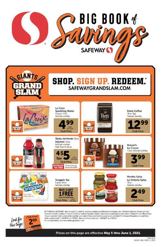 Safeway - deals are valid from 05/05/21 to 06/01/21 - page 1.