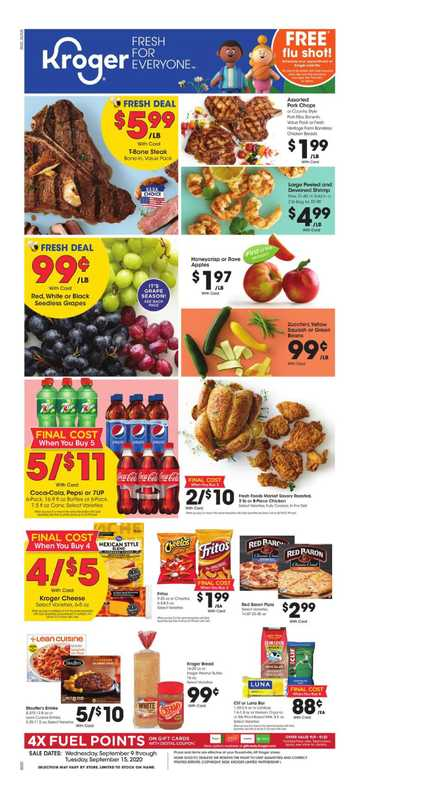 Kroger - deals are valid from 09/09/20 to 09/15/20 - page 1.