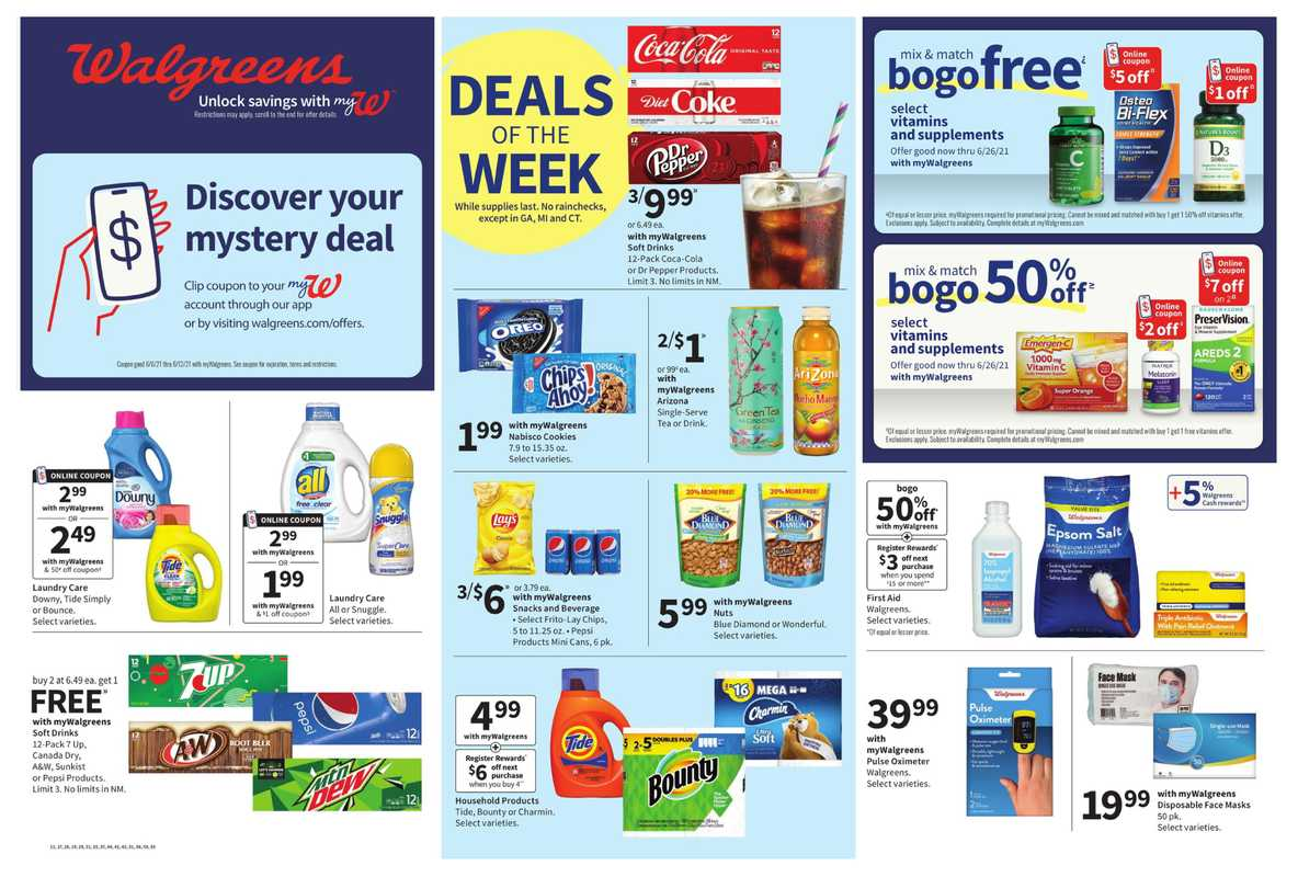 Walgreens - deals are valid from 06/06/21 to 06/12/21 - page 1.