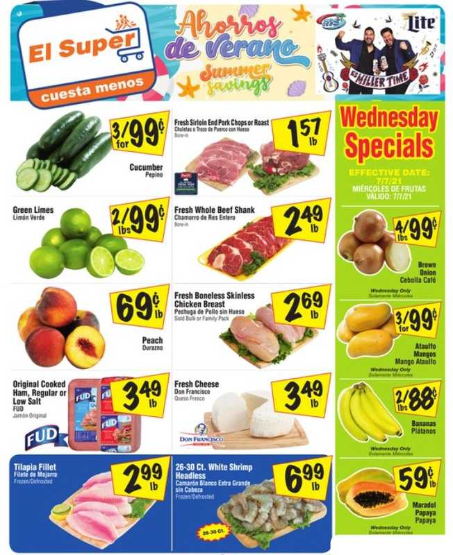 El Super - deals are valid from 07/07/21 to 07/13/21 - page 1.