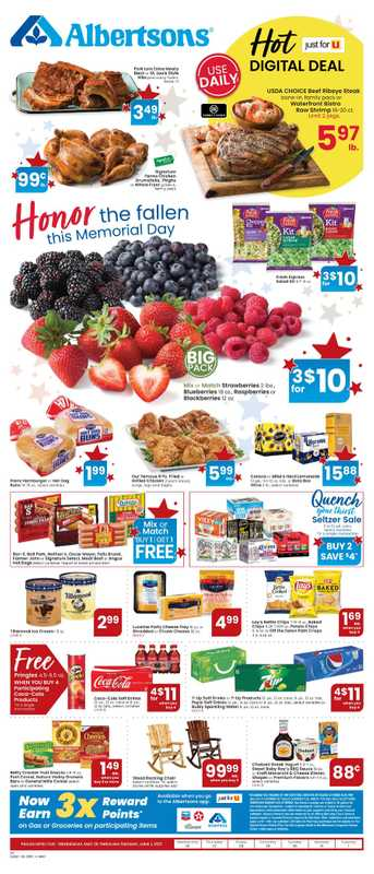 Albertsons - deals are valid from 05/26/21 to 06/01/21 - page 1.