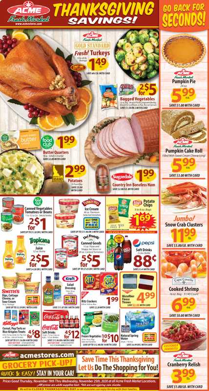 ACME - deals are valid from 11/19/20 to 11/25/20 - page 1.