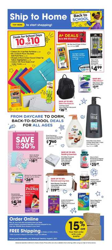 Smith's - deals are valid from 07/28/21 to 08/03/21 - page 1.