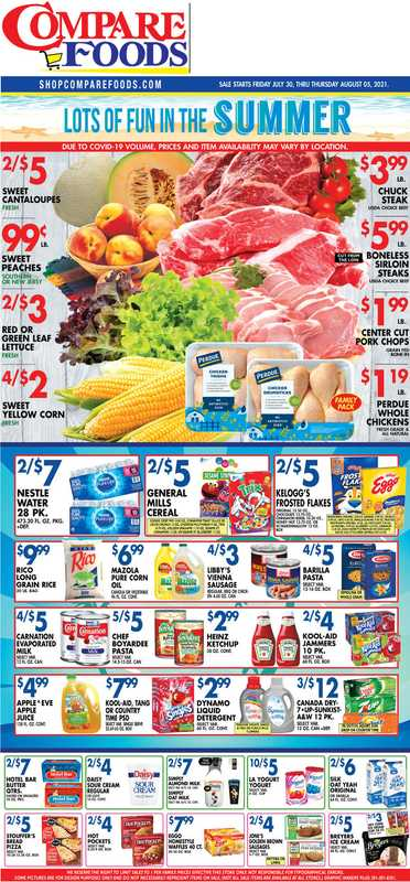 Compare Foods - deals are valid from 07/30/21 to 08/05/21 - page 1.