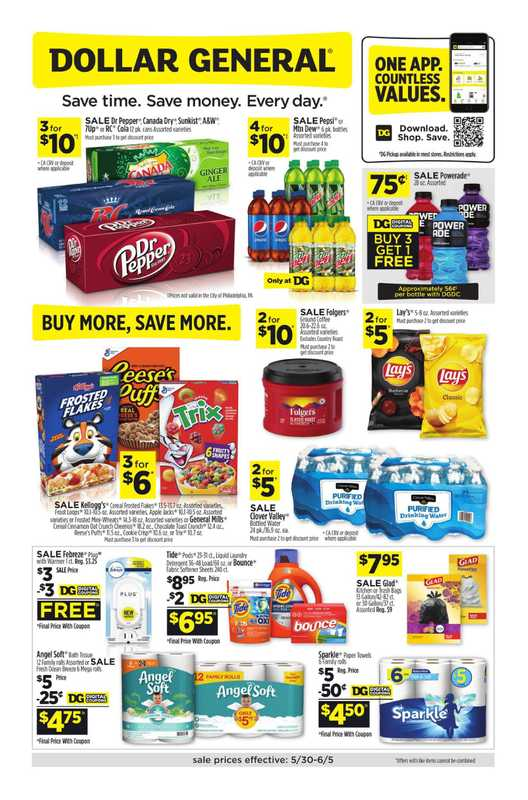 Dollar General - deals are valid from 05/30/21 to 06/05/21 - page 1.