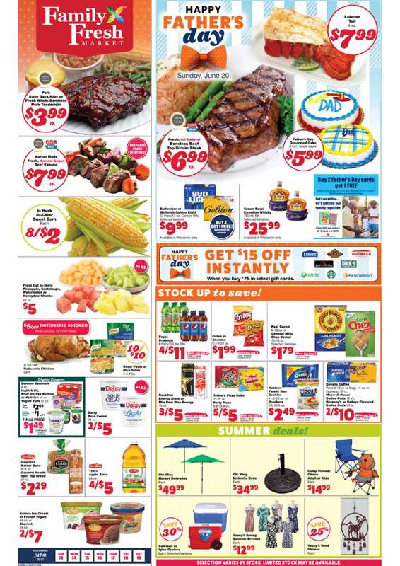 Family Fresh Market - deals are valid from 06/13/21 to 06/19/21 - page 1.