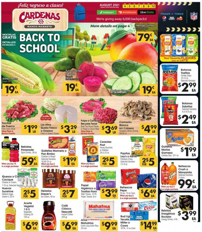 Cardenas - deals are valid from 08/04/21 to 08/10/21 - page 1.